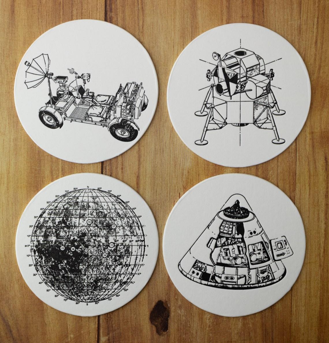Lunar Landing Pad Coaster Set