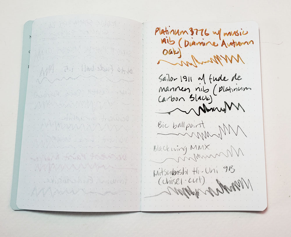 ink test 2, reverse of ink test 1