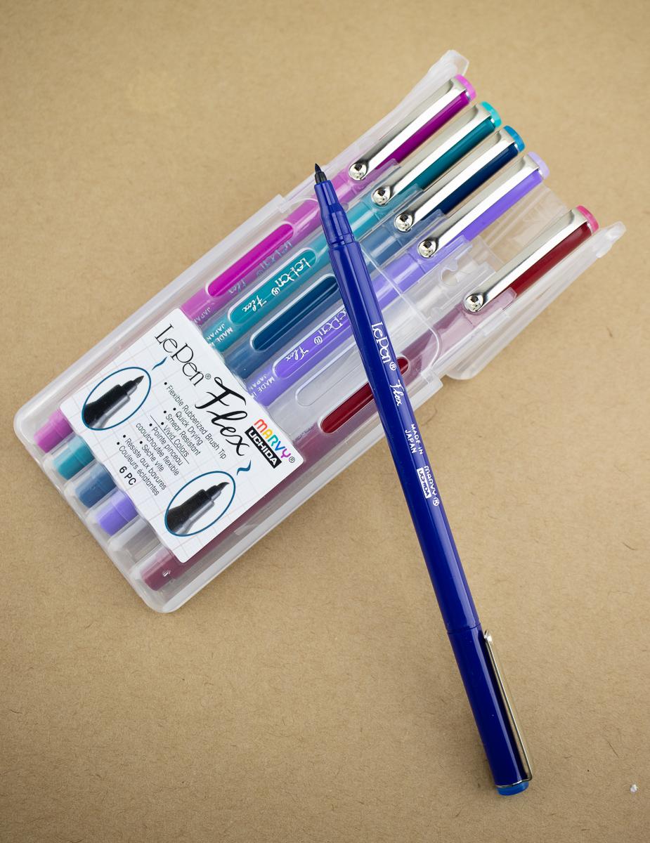 Marvy Le Pen Flex Brush Pen - Jewel - 6 Color Set
