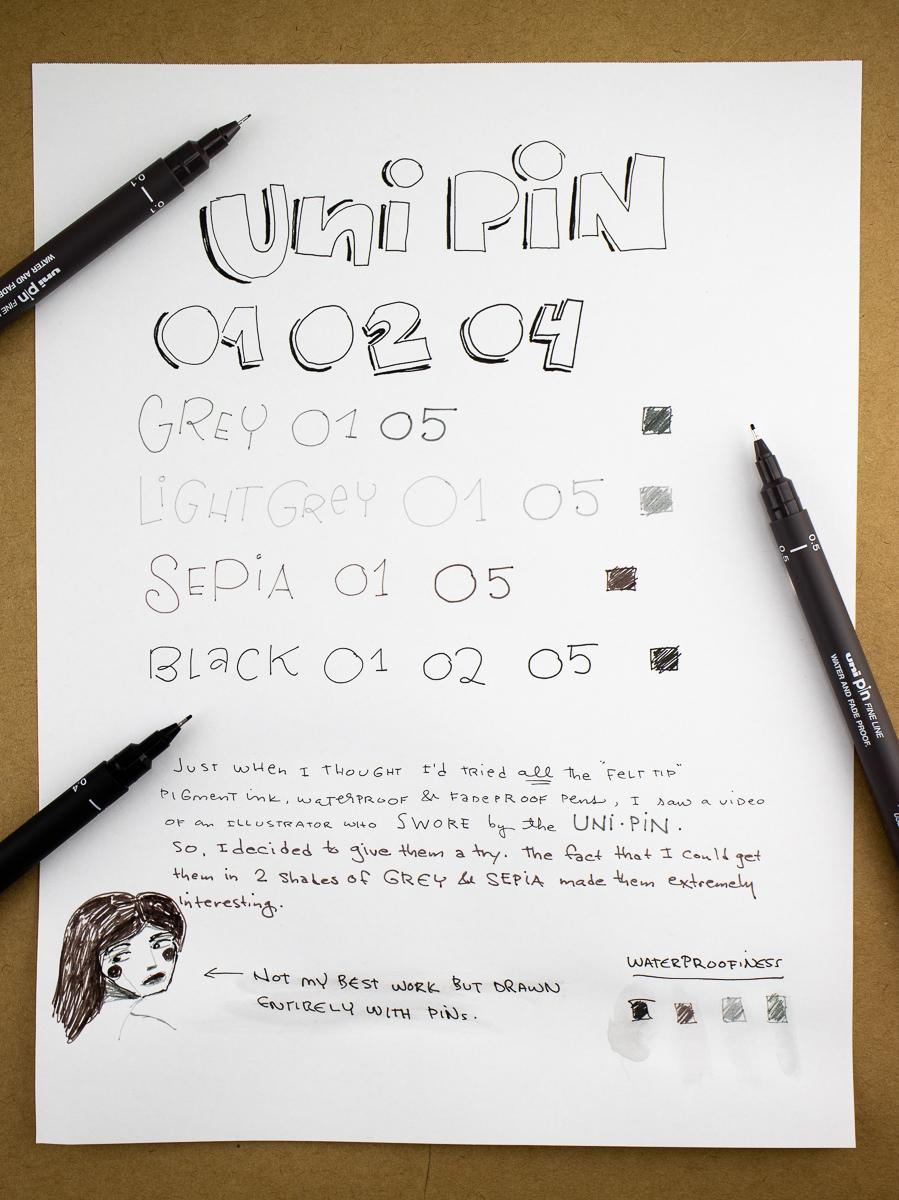 Uni Pin Writing Samples
