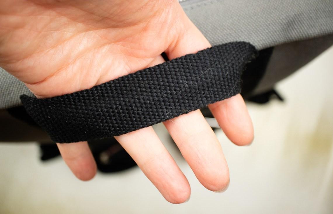 Baron Fig Venture Slimline Backpack strap