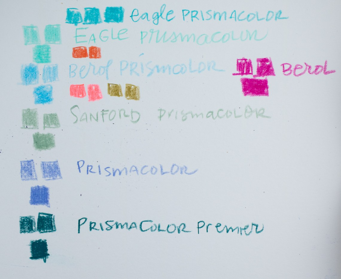 Prismacolor Comparison