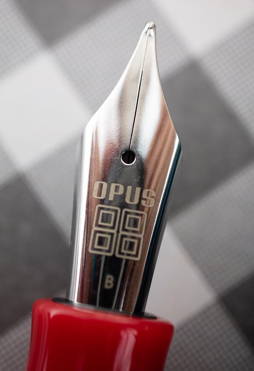 Opus 88 Flow Fountain Pen nib close-up
