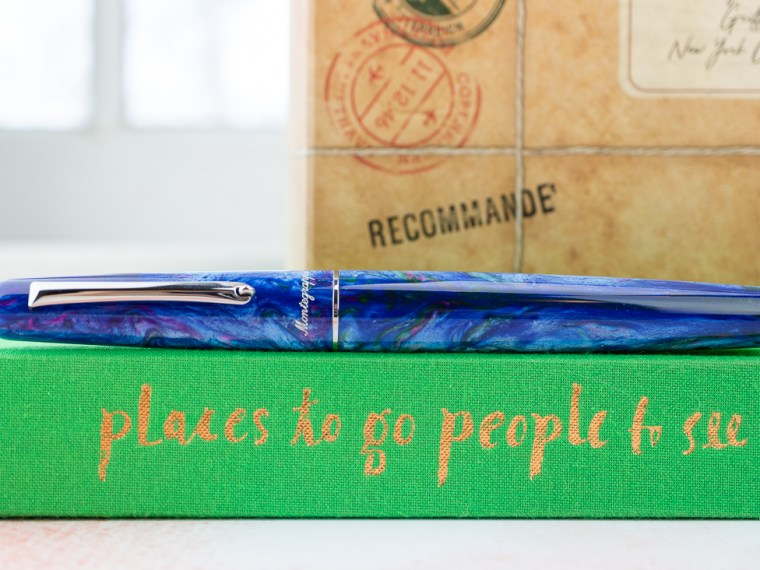 Fountain Pen Review: Montegrappa Elmo 01 Fantasy Bloom Edition (Blue Cross Gentian B Nib)