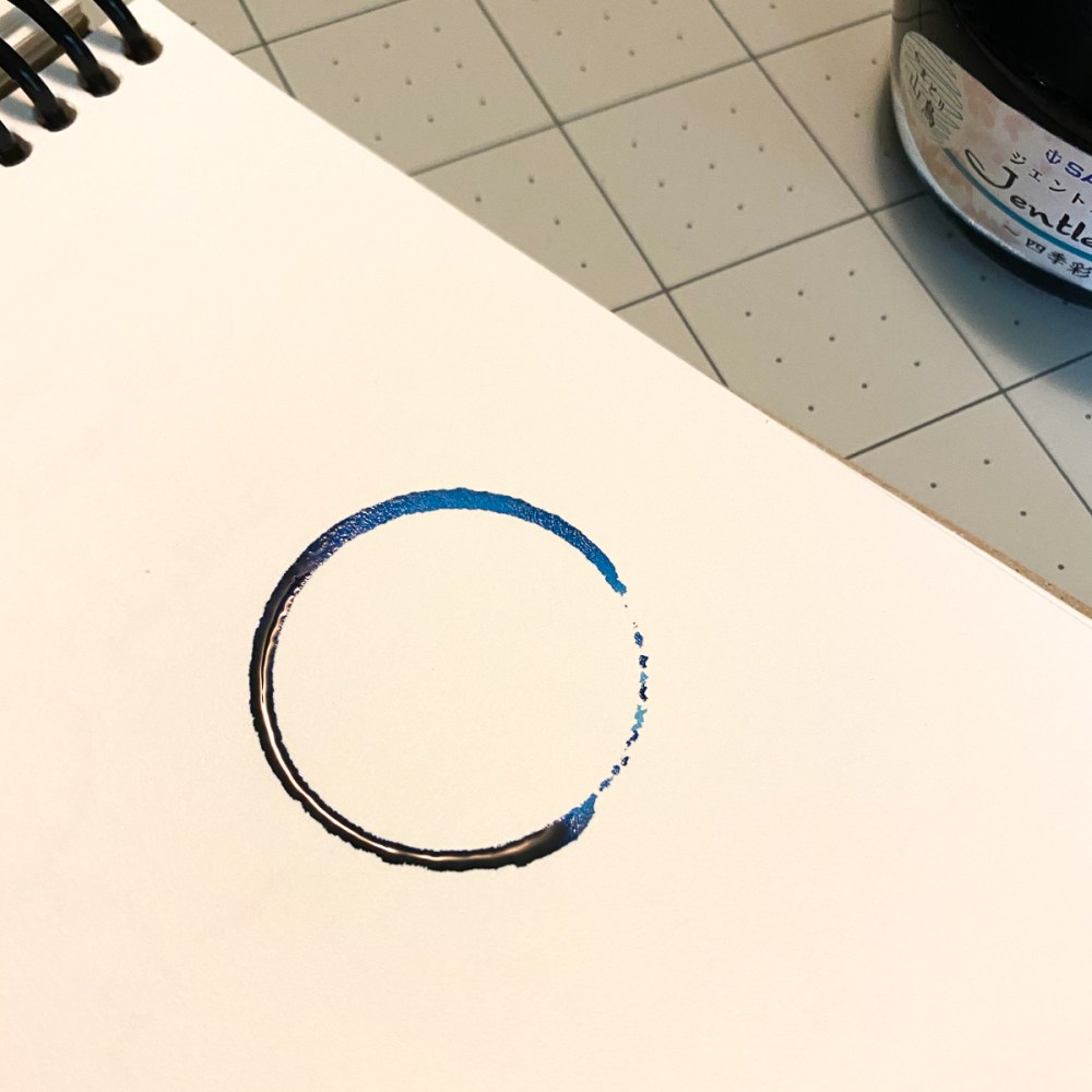 Making ink ring swatches