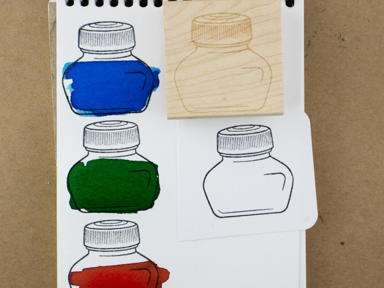 Product Preview: Ink Bottle Rubber Stamps (Shameless Plug)