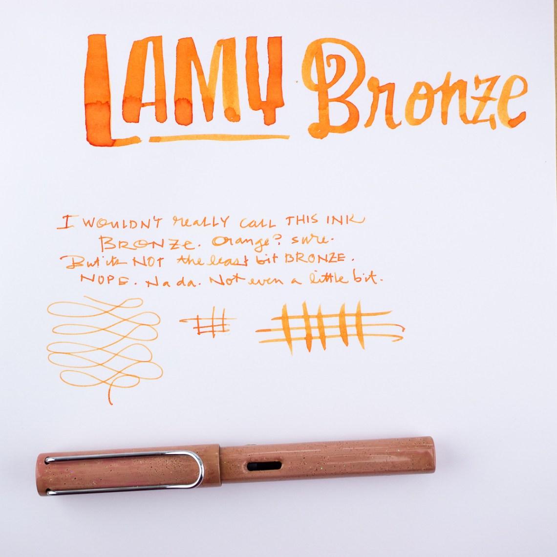 Lamy Bronze writing sample