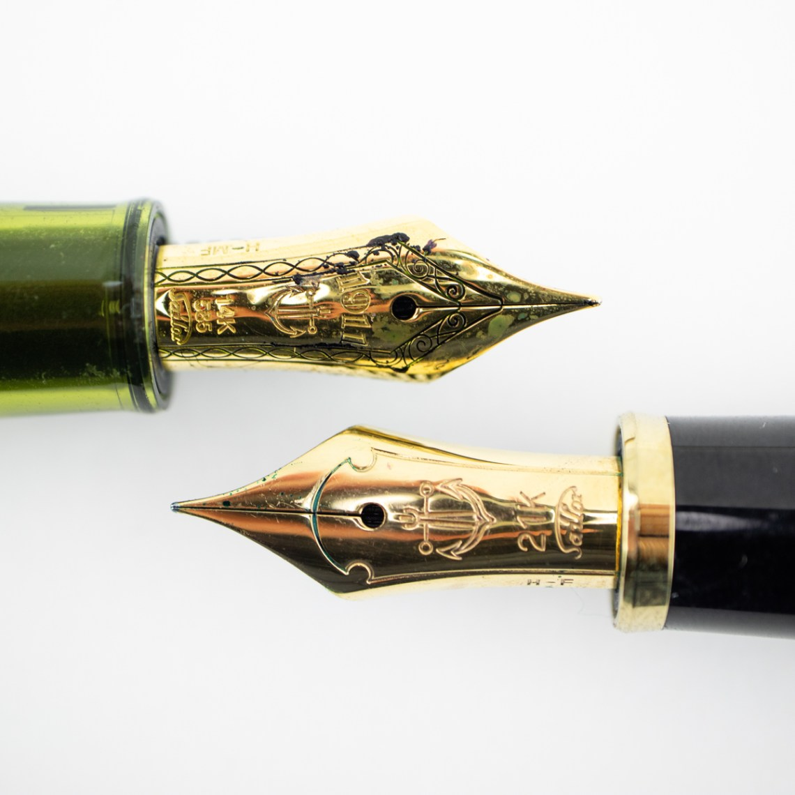 Sailor 1911 Kagero Green nib close up
