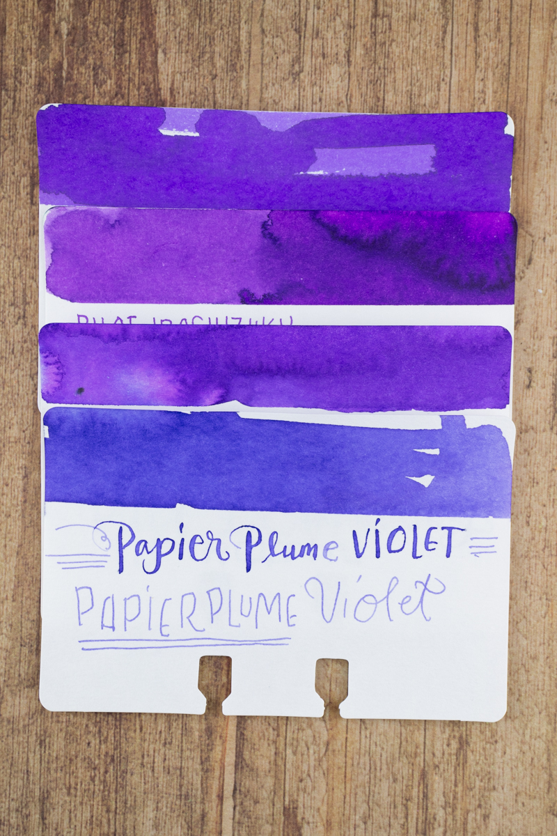 Sheaffer Ink Overview: Purple ink comparison swatches