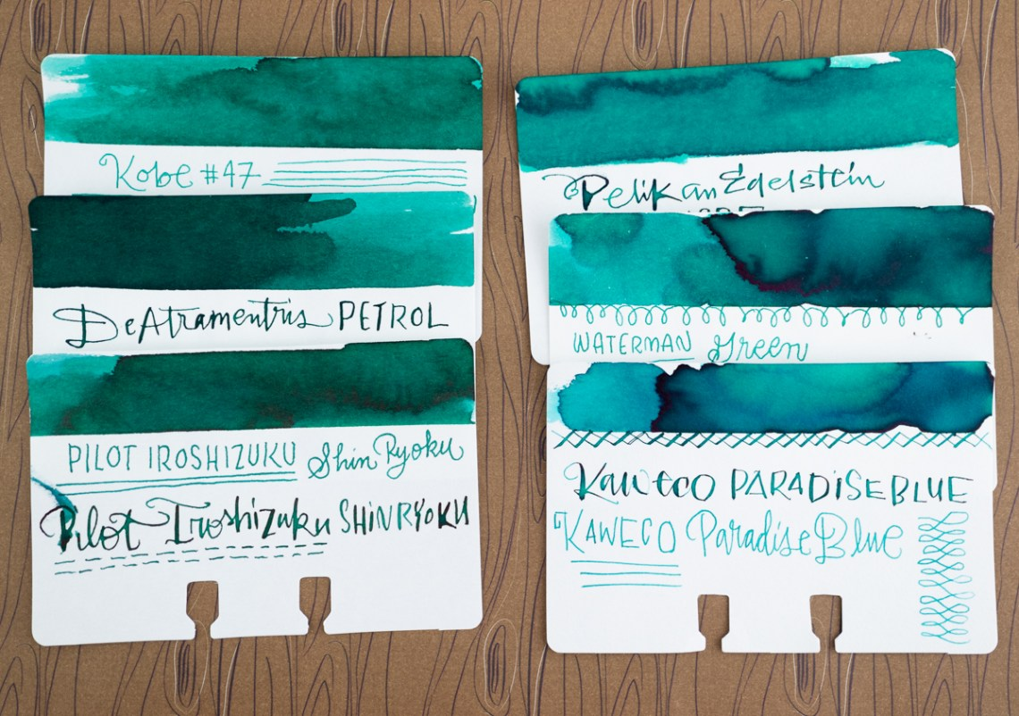 Waterman Harmonious Green comparison
