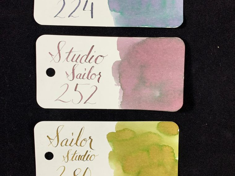 Ink Review: Sailor Studio 224, 252, 280