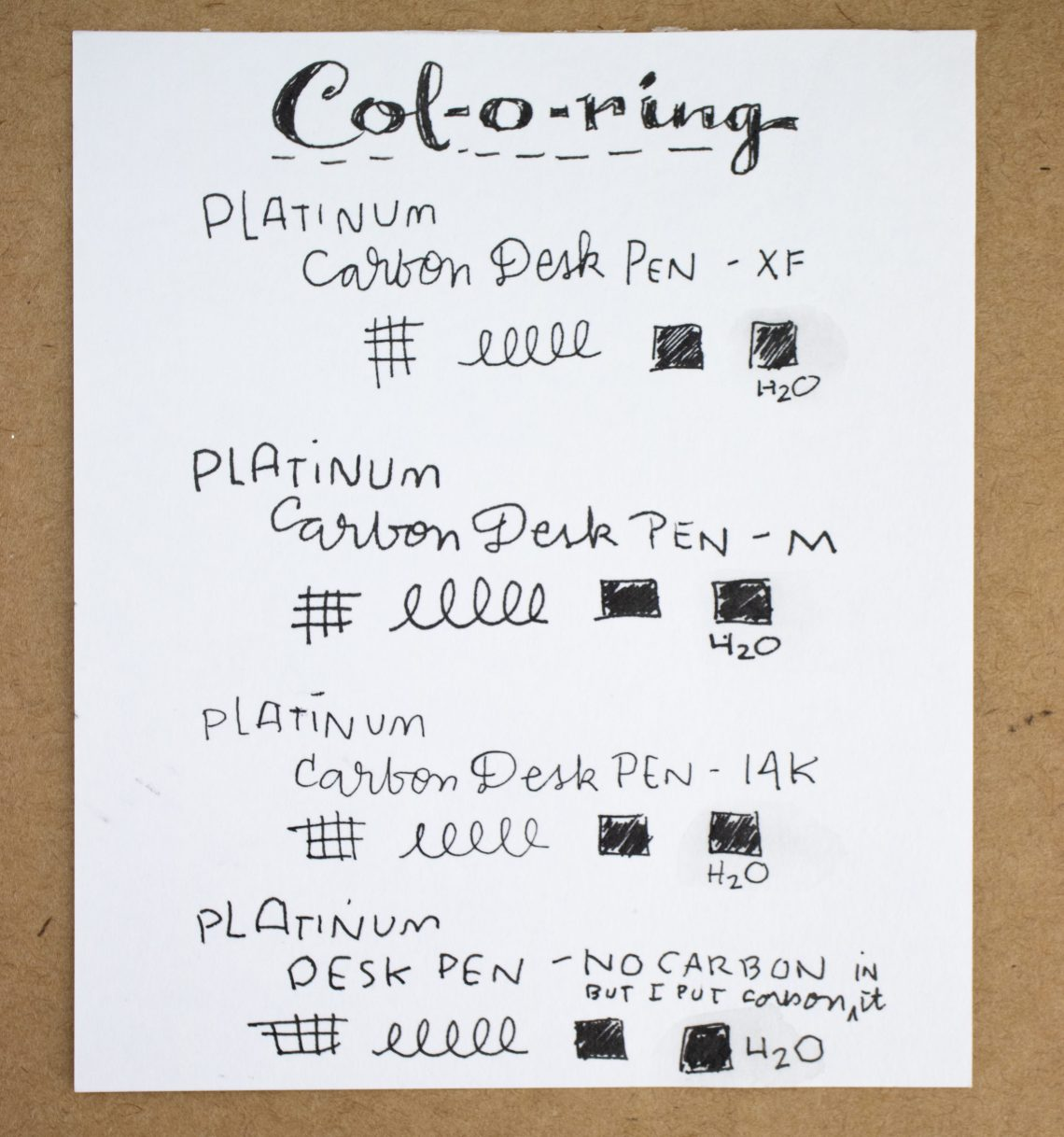 Platinum Carbon Desk Pen