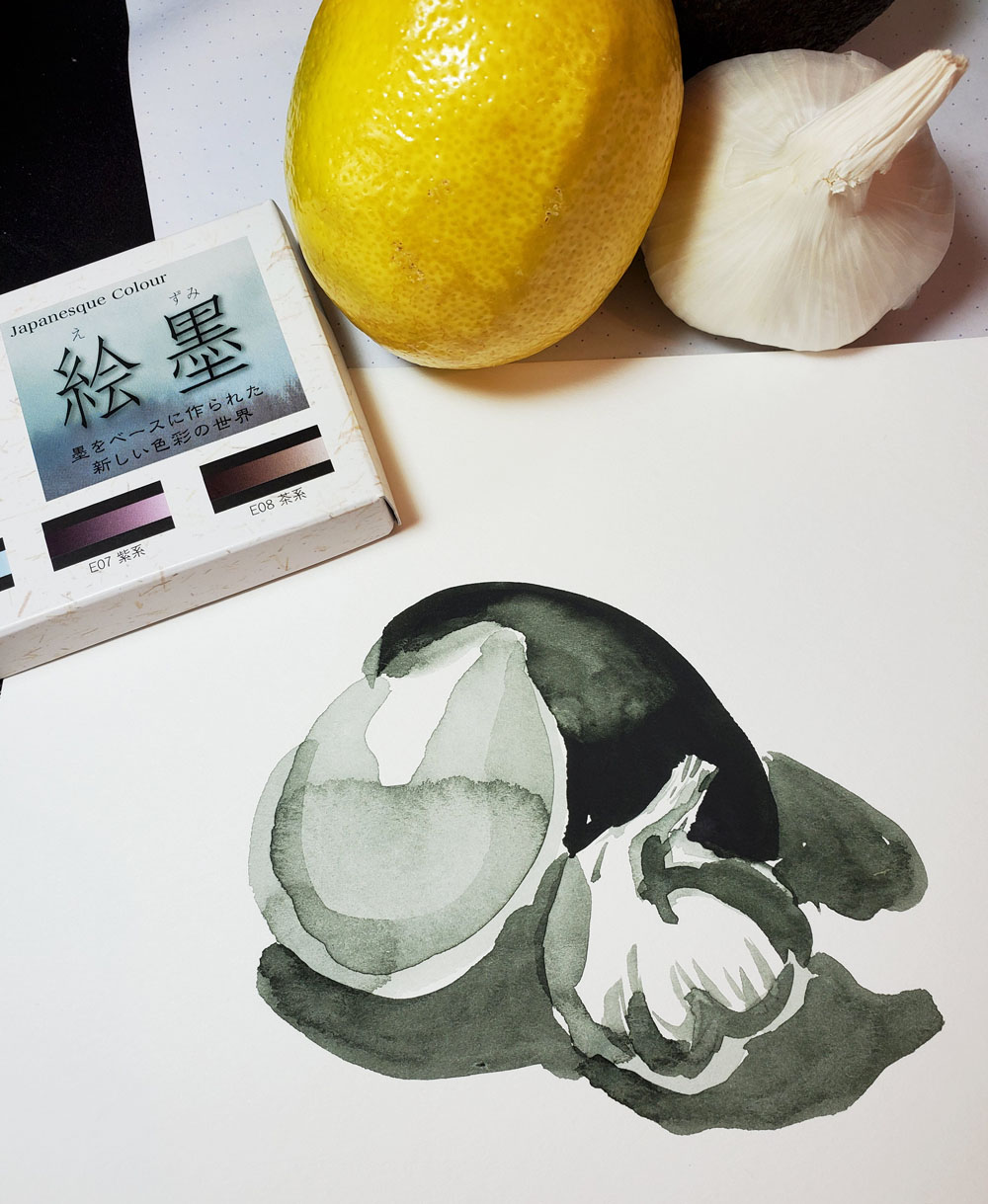 5 - Boku-Undo value sketch still life