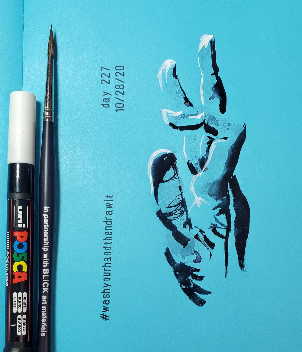 7 - bluish black