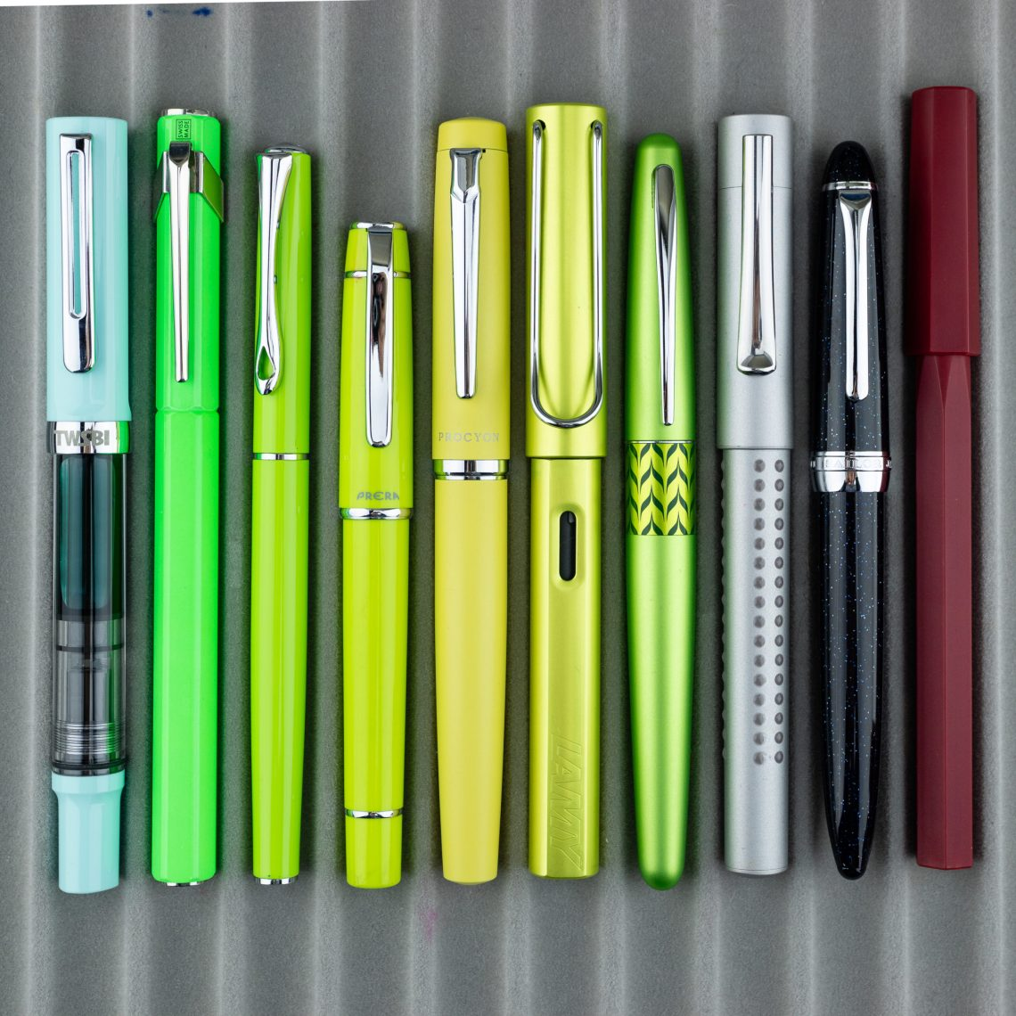 Platinum Procyon Citron pen comparison