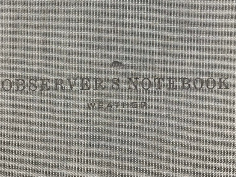 Notebook Review: Princeton Architectural Press Observer's Notebook: Weather