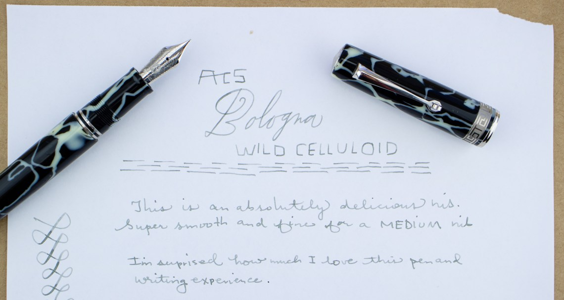 ASC Bologna Wild Celluloid Fountain Pen Writing Sample