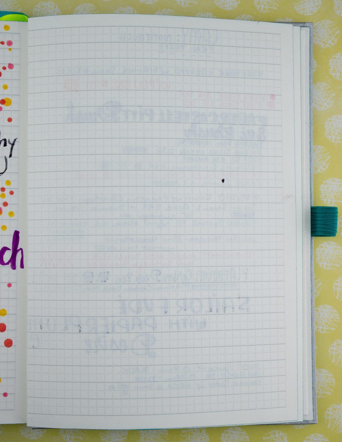 Lamy Notebook writing reverse of stock