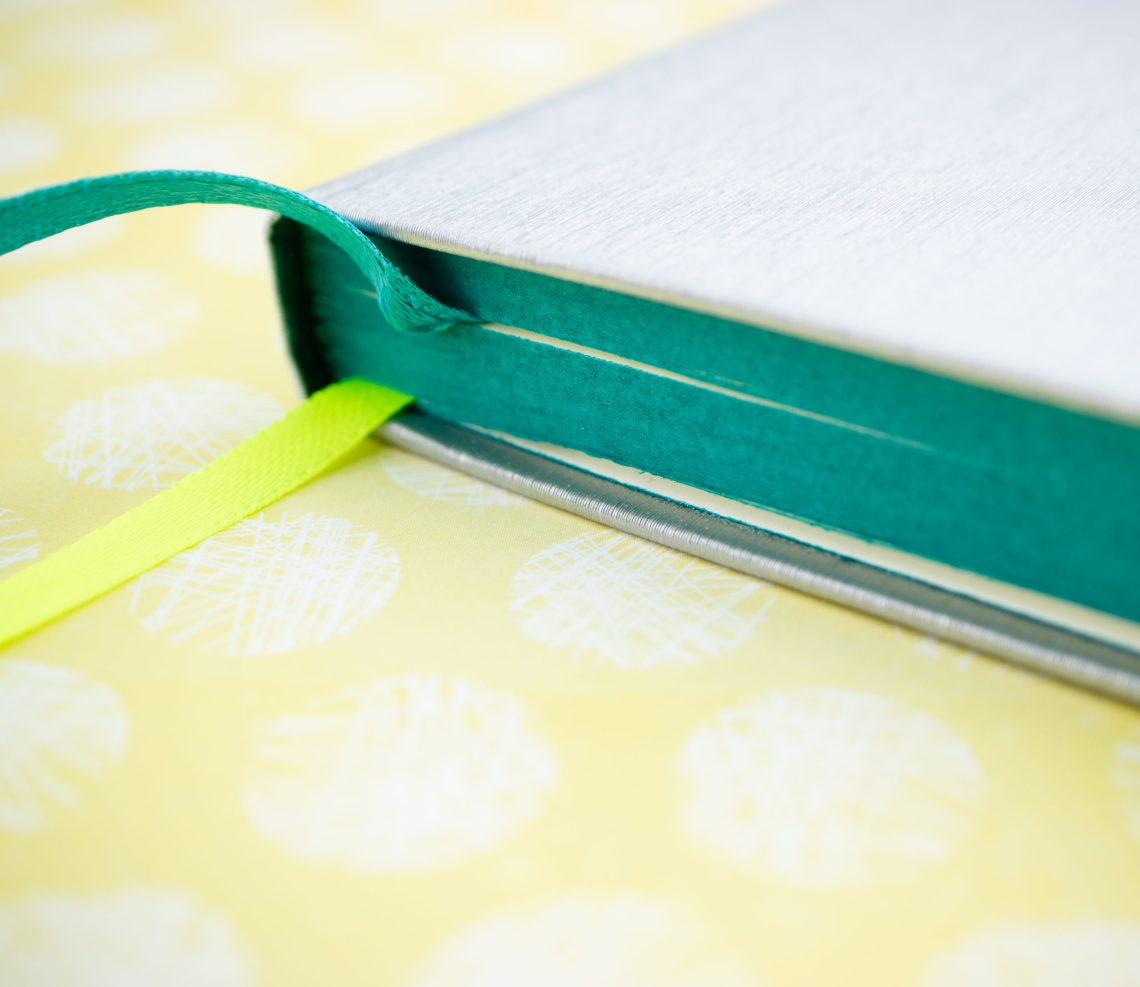 Lamy Notebook edge painting and ribbon bookmarks