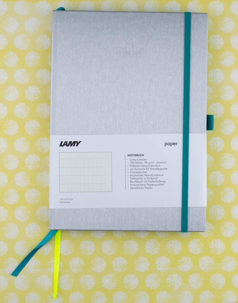 Lamy Notebook silver and teal