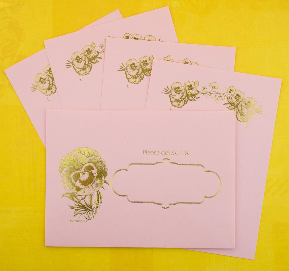 LA Paper Lover Pansies Letter Kit