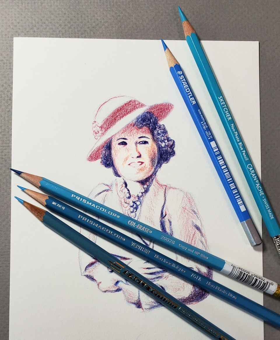 pencils with drawing