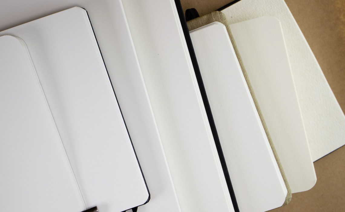 Sketchbook paper color comparison