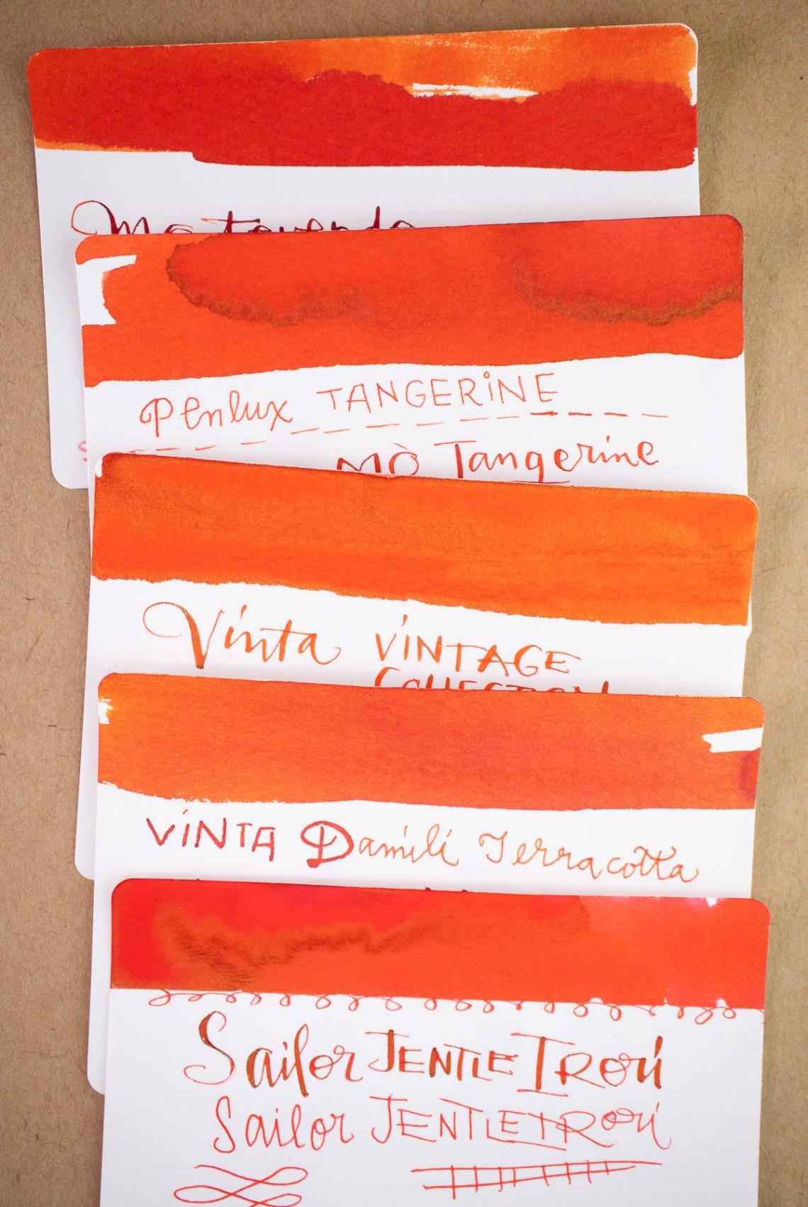 Vinta Vintage Collection ink comparison