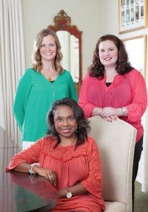 (Left to right) Susan McNamara, MM Co-Chair; Charlotte Seals, JLJ President (Seated); Lindsey Hamm, MM Chair