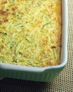 Courgette and feta souffle