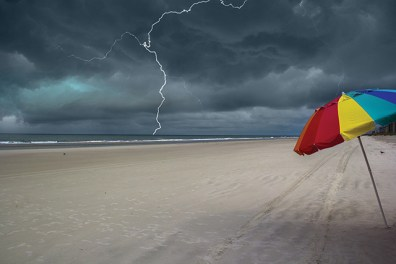 Storm approaching the beach