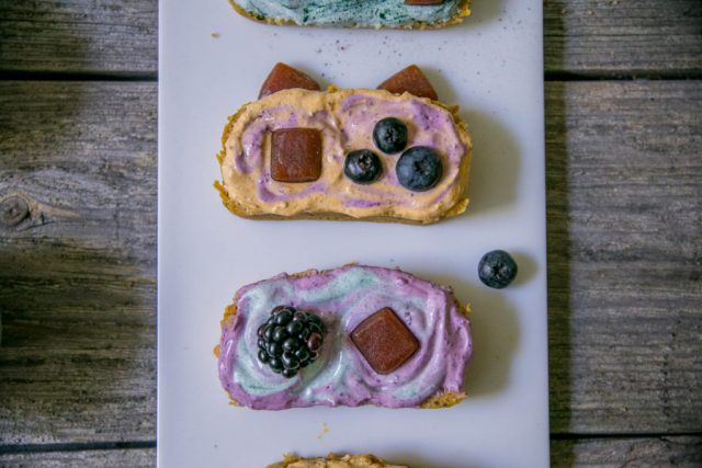 Cute Rainbow Sweet Potato Cake (a.k.a rainbow toast)