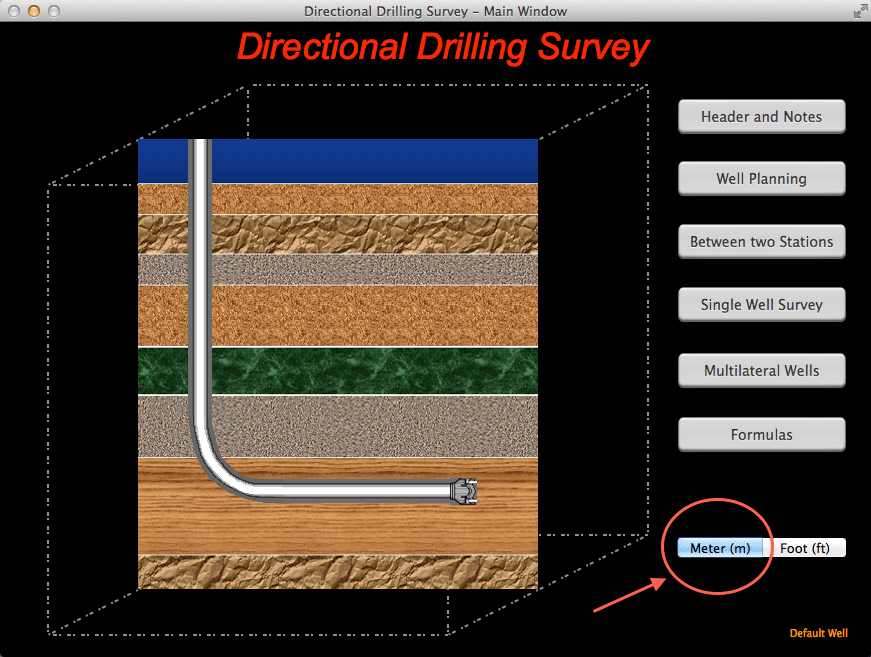 Directional Drilling Survey for Mac - Main View