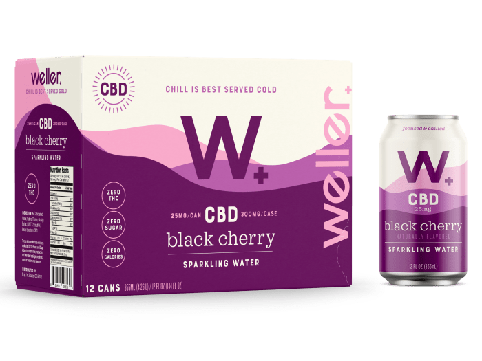 Buy Black Cherry CBD Sparkling Water