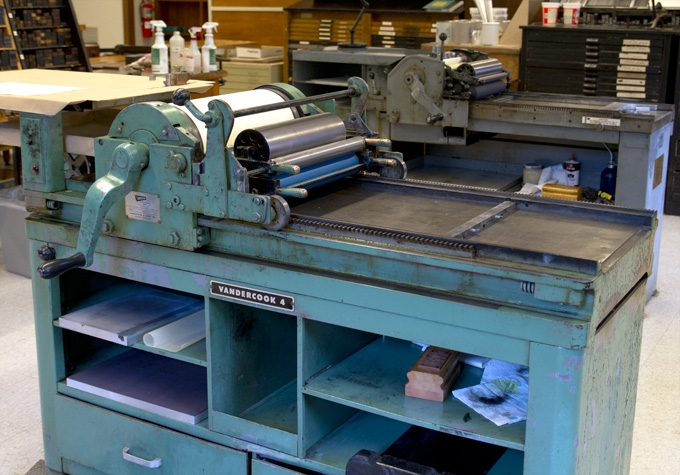 Image result for vandercook press