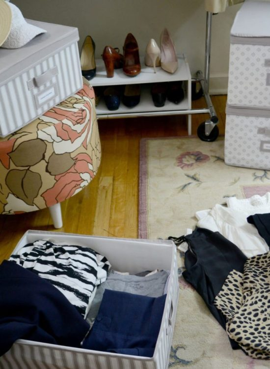 Wellesley & King   A neat and organized way to store your off season clothes. These boxes are great for small apartments. Click to find out more!   Closet Storage Solutions: How to Store Off-Season Clothes featured by top Pittsburgh fashion blog, Wellesley & King