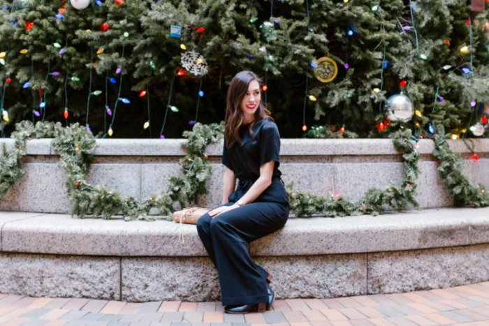 A Festive Christmas Party Look for Your Office Holiday Party + Looks for Every Occasion featured by top Pittsburgh fashion blog Wellesley & King