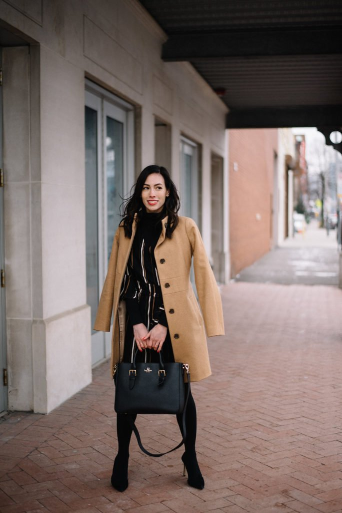 wellesley and king-@wellesleynking-wrap dress for office - The 4 Best Classic Designer Handbags featured by top Pittsburgh fashion blog, Wellesley & King