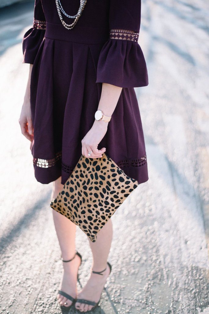 ways to style-bell sleeve dress-wellesley and king-@wellesleynking-pittsburgh blogger - The 4 Best Classic Designer Handbags featured by top Pittsburgh fashion blog, Wellesley & King