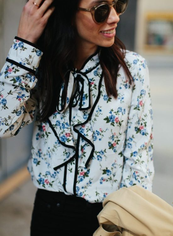 wellesley and king-pittsburgh style blogger-floral blouse
