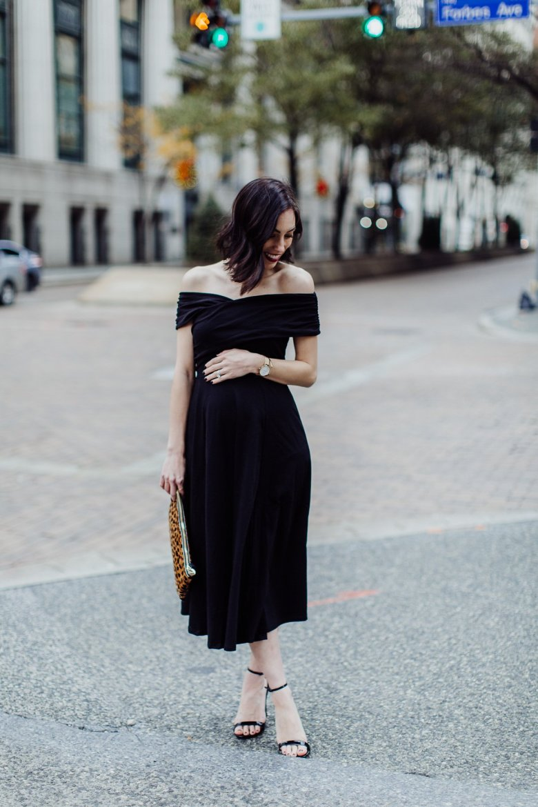 maternity cocktail dress | ASOS | Where to Find Affordable Maternity Holiday Dresses featured by top Pittsburgh fashion blog Wellesley & King