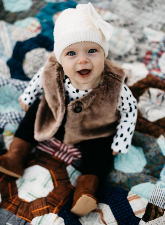 Top US lifestyle blogger, Wellesley & King, highlights must-have items for baby 6-9 months: baby must-haves, minimal baby, 9 month old baby photo shoot