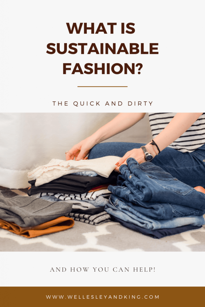 what is sustainable fashion-pittsburgh blogger wellesley and king