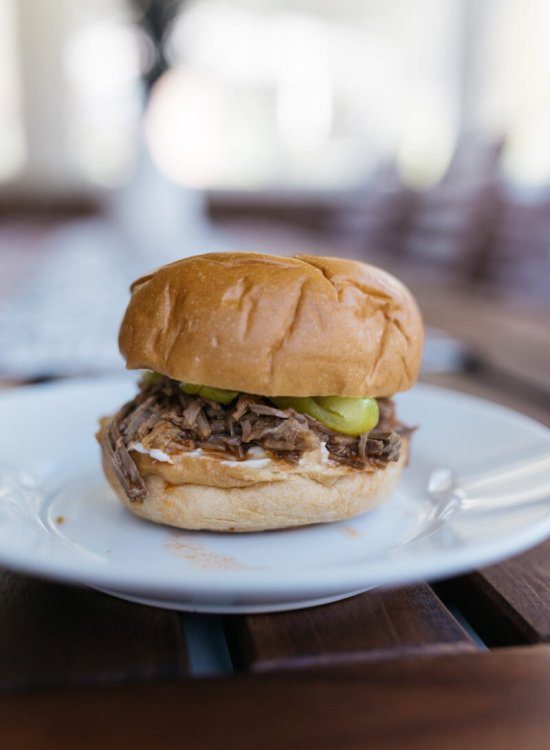 slow cooker italian pulled beef