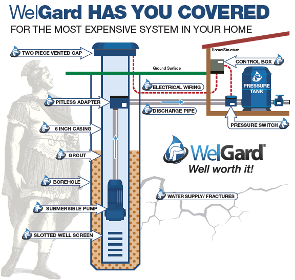 Infographic of well components
