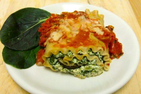 Eggplant Lasagna curls, healthy recipe