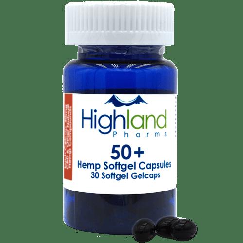 Highland Pharms 50mg CBD capsules