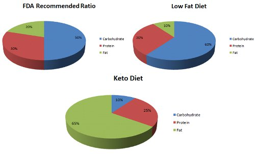 keto diet pie chart