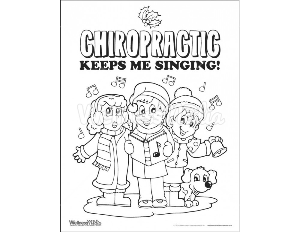 Chiropractic Kids Coloring Sheets