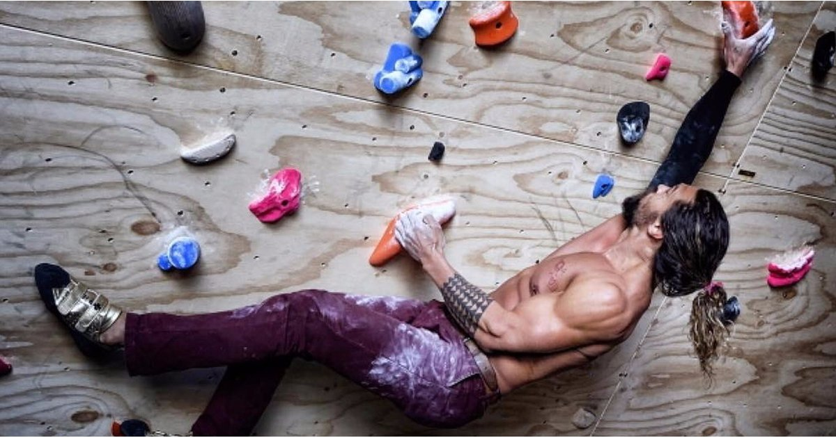 workout and rock climbing